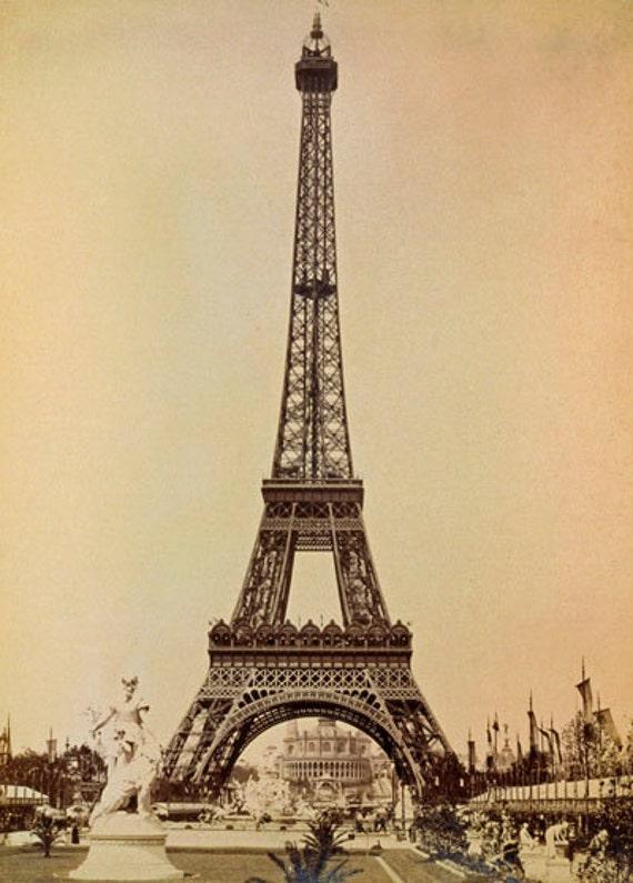 1930/'s Eiffel Tower Paris Tourism Poster  A3 Reprint