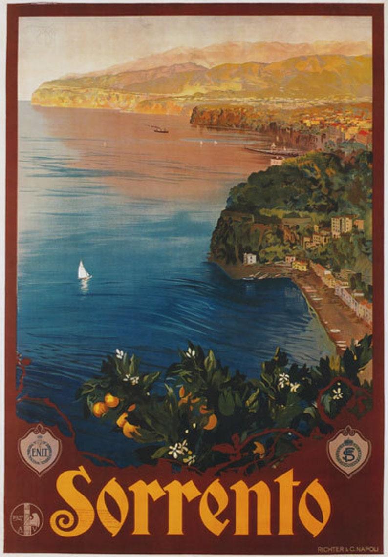 TV88 Vintage 1927 Sorrento Campania Italian Italy Travel Tourism Poster A2//A3
