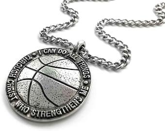 18+2 Delight Jewelry Silvertone Card Suit Black Spade Bible Verse Philippians 4:13 Glass Dome Necklace