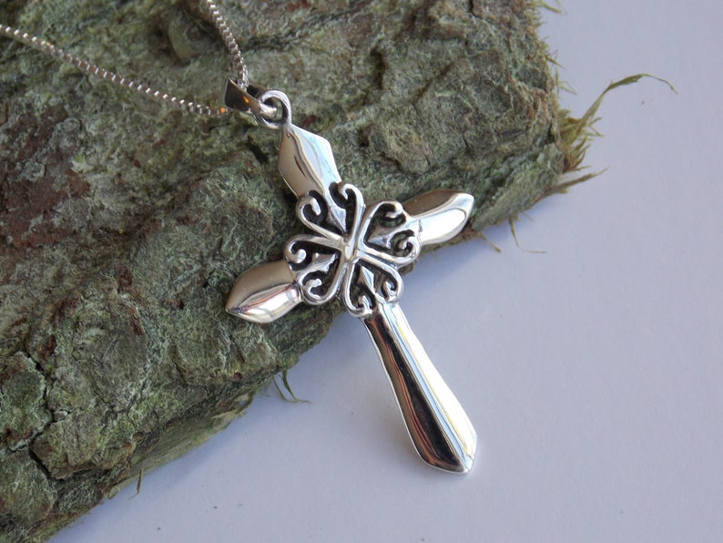 1a8a6759e7154c Celtic Cross Necklace Sterling silver Celtic Cross Jewelry   Etsy
