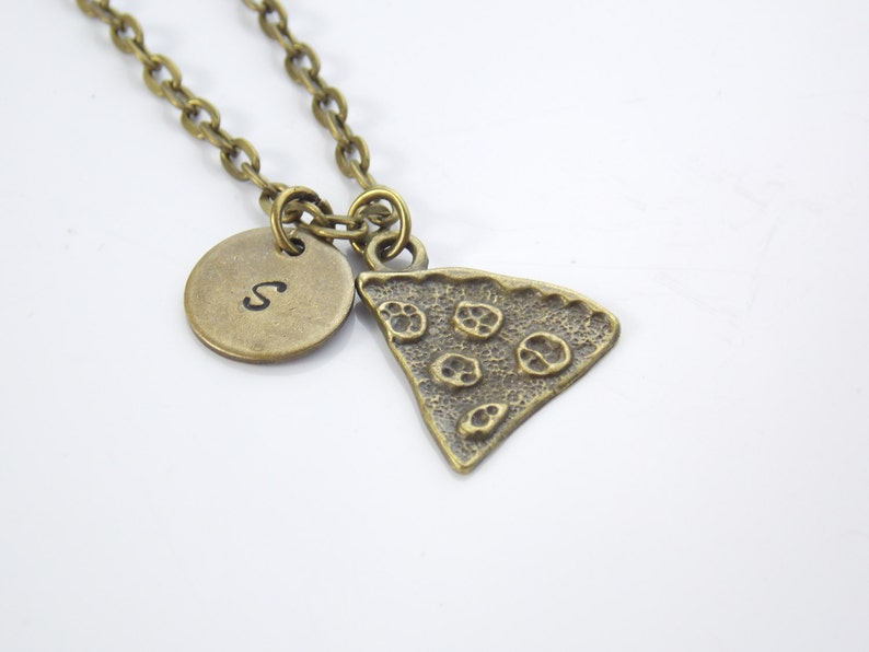 c254c93e17a3 Collar de amigos mejor, mejor amigo regalo, Pizza encantos, joyería del  collar de bronce, amigos mejor regalo de cumpleaños, collares de Pizza de  ...