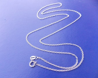 Sterling Silver Chain, Silver Chain Necklace, Cable Chain Necklace, 14 16 18 20 22 24 30 36 inch, 925, Finished Chain, Genuine Sterling