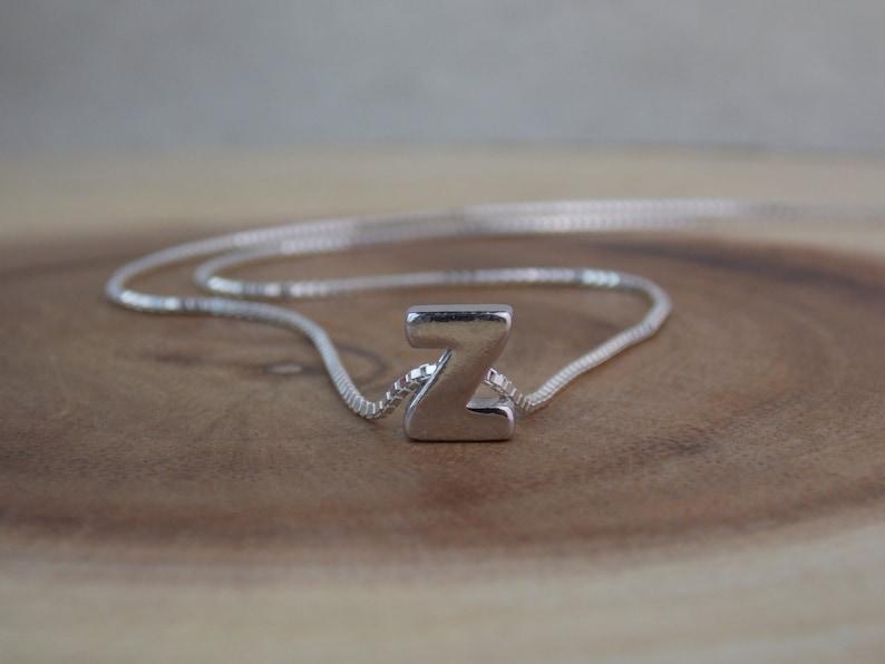 Monogram Z Sterling Silver Z Stampsink Initial Z Necklace Alphabet Letter Z Necklace Z Jewelry Z Charm Letter Z Pendant Letter Z