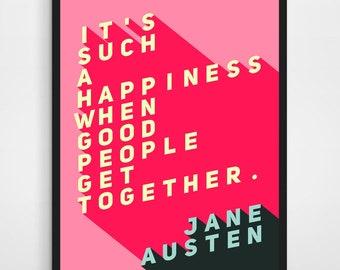 WEDDING GIFT, Engagement gift, Jane Austen, Emma Quote, Jane Austen Emma Quote, Jane Austen Wedding, Jane Austen Print, 8x10 Print
