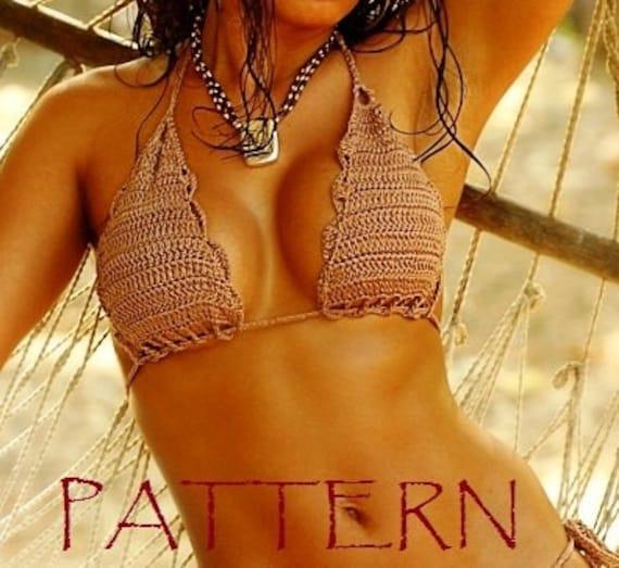 Crochet Bikini Top Pattern Tutorial Crochet Patternochet Etsy