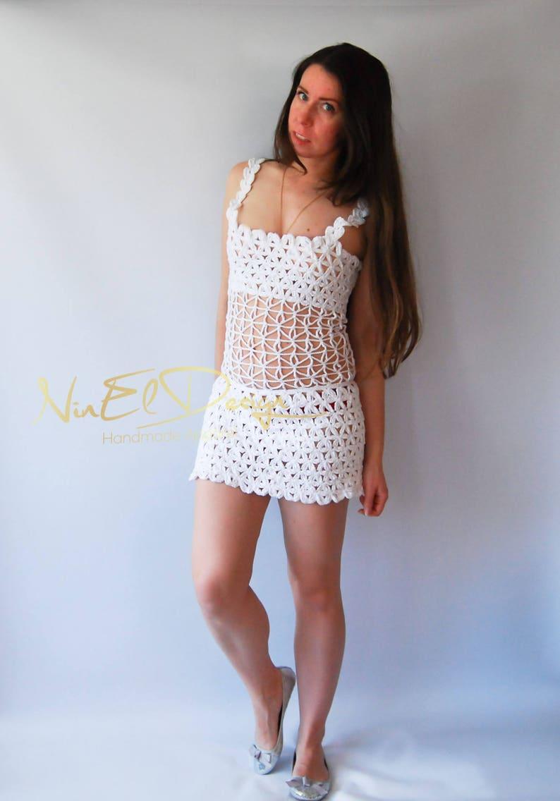 a04174a00f Sukienka Mini Crochet. Sexy sukienka crochet. Sukienki dla