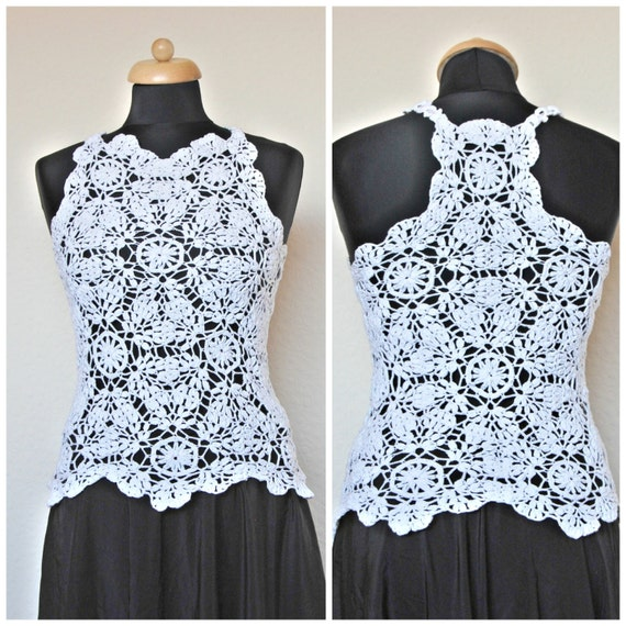 Lace Crochet Wedding Top Crochet Lace Crochet Vest Cochet Etsy