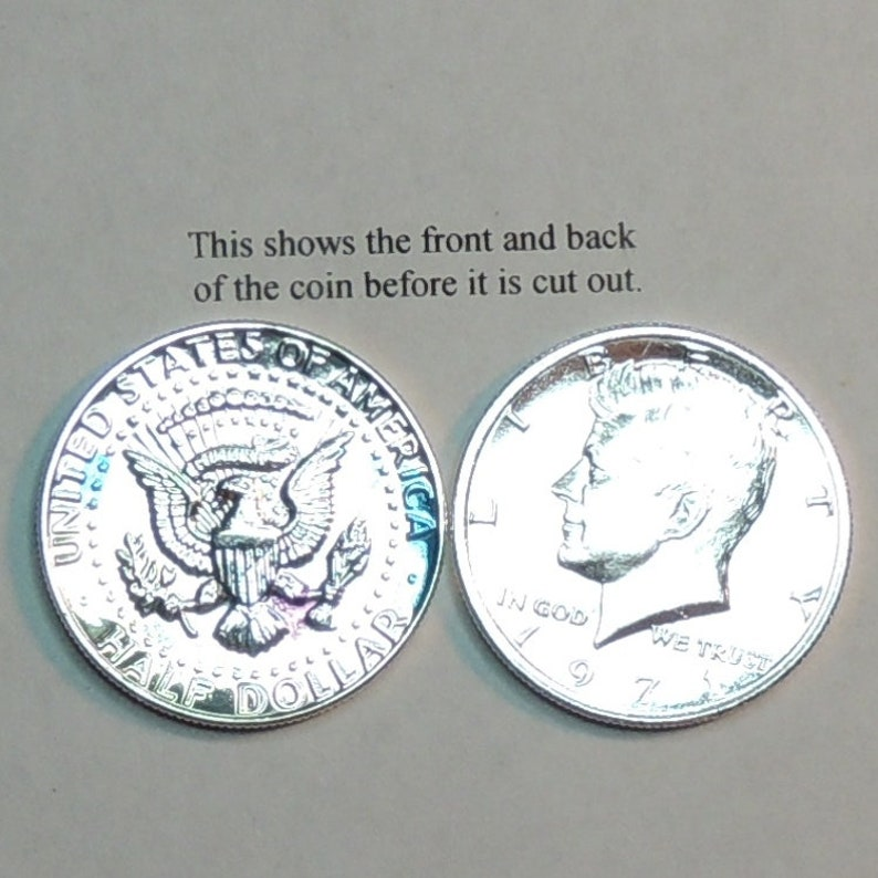 Gold on Silver coin Beautifully Hand Cut out /& 2-toned\u00a0 Uniquely Hand done Earrings her girls women men U.S Kennedy Eagle half Dollar
