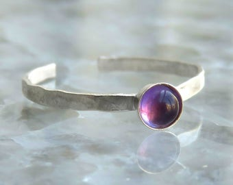 Gemstone Toe Ring - Toe Ring - Silver knuckle Ring - Foot jewelry - Amethyst Ring