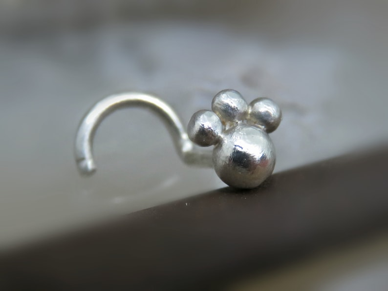 Sterling Silver Nose Stud  Nose Jewelry Nose Stud 18g