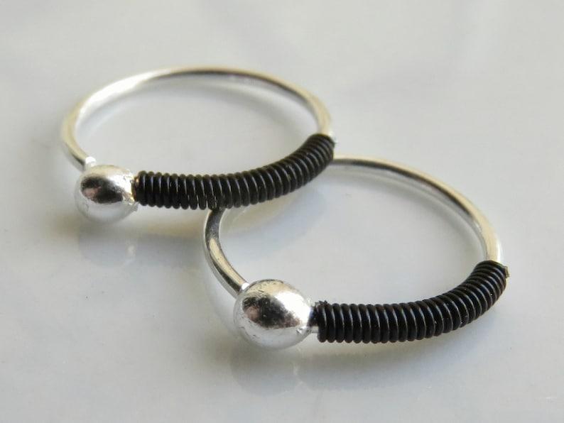 18 gauge Small Hoop Earring Sterling Silver Hoop Earrings Hoop Earrings For Men