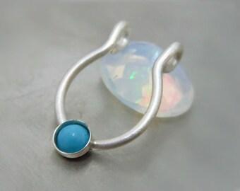 Tourquoise Fake Septum / Tourquoise Septum Jewelry - Faux Septum Ring - Tourquoise Jewelry - Nose Cuff
