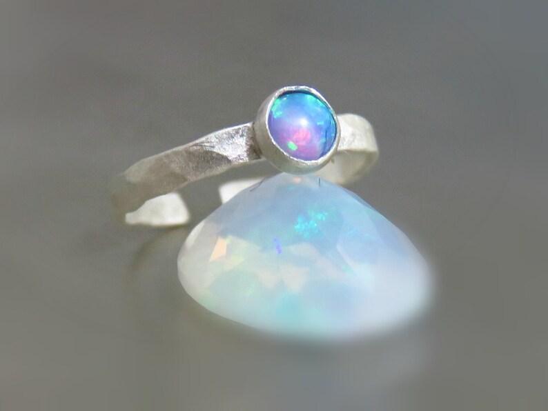 sterling silver ear cuff opal ear cuff clip on earring