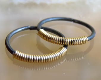 Silver conch piercing / conch hoop / nipple piercing / mens hoop earrings