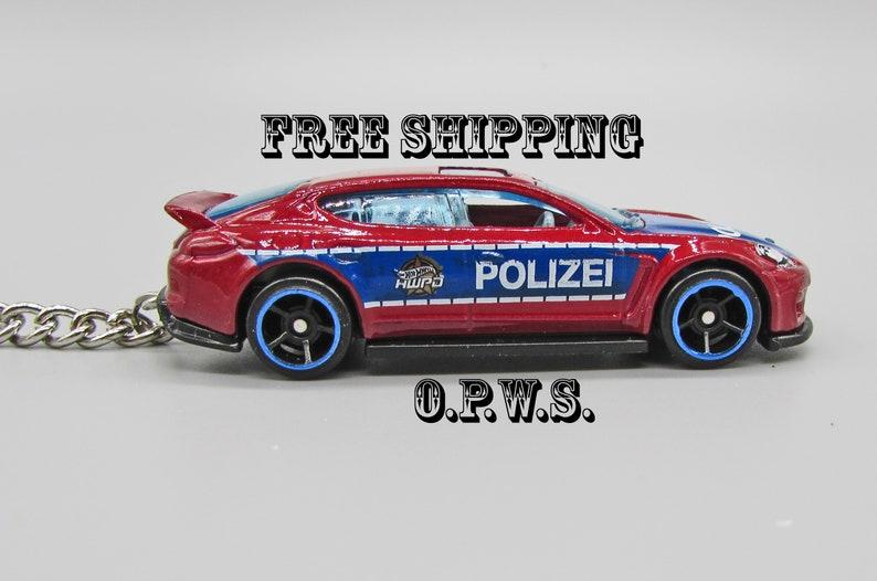 Porsche Keychain, Police Car Keychain Porsche Panamera Police Car