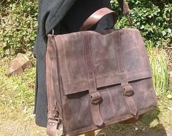 Men's Large Leather Satchel. Leather Cross Body Bag, Leather Messenger, Leather Backpack, Leather Rucksack, Leather Holdall, The Ossian.