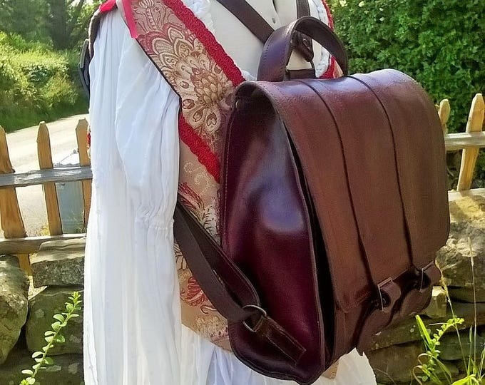 Quality Small Leather Back Pack. Ladies Leather Rucksack. Leather Messenger Bag, Leather Work Bag, Messenger Backpack, Ipad bag, The Daisy.
