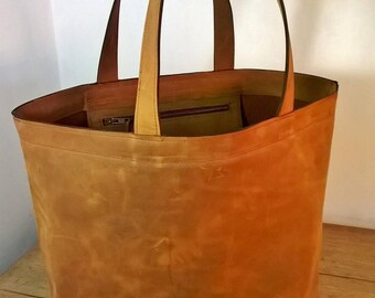 The Grand Shopper. Quality Leather Giant Shopper Tote.  Giant Leather Tote, Leather Shopper, Leather Holdall, Rustic Bag, The Angie.