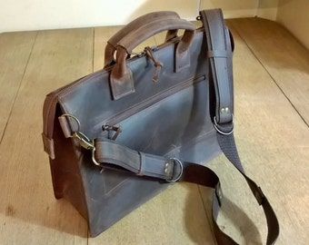Men's Leather Briefcase. Leather Messenger Bag, Leather Cross body bag, Unisex Messenger, Leather Laptop Bag,  Leather Day bag,The Nicholas.