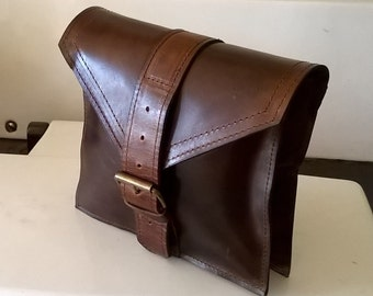 Gentleman's Leather Belt Bag, Leather Pouch, Leather Tool Bag, Leather Bumbag. Custom leather belt bag. Small leather man bag. The Simon