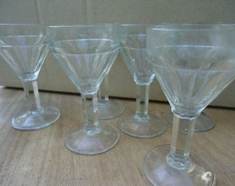 c2862c37235 Aperitif or Port Small Drinking Glasses Beautiful Set of 6 Glasses Handmade  these are 1900s made in France 4 inch tall Victorian 19 Century