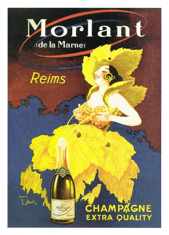 19th Century French Champagne Advertisement Poster  A3//A2 Print