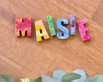 Personalized Name Crayons. Kids birthday gift. Letter Crayons. Custom Name Crayons. Educational toys. Alphabet crayons. Rainbow crayons.