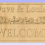 Welcome Sign - Dave & Louise