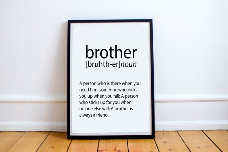 CHRISMAS GIFT For Brother Gift Ideas Print