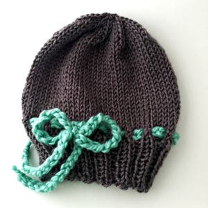 knit baby gift knit baby hat new baby hat baby gift classic knit hat Smocked baby hat