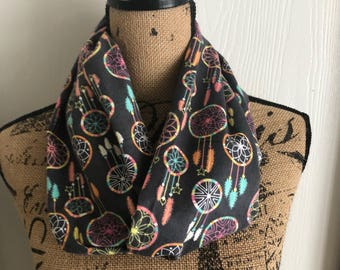 Dreamcatcher Scarf, Boho Scarf, Dreamcatcher Accessory, Colorful Scarf, Gift For Her, Gift for Christmas, Wife Christmas Gift,