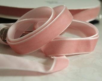 5/8 inch Dirty Pink Velvet Ribbon / Pink Velvet /   VRPHX58-216