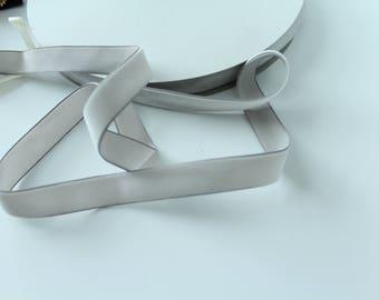5/8 inch Silver Velveteen Ribbon /  Light Gray Velvet /   VRYM58-012
