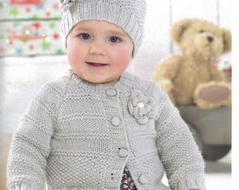 c9a03f52017e Knit girls sweater duffle coat 1yr. to 12 yrs. hooded