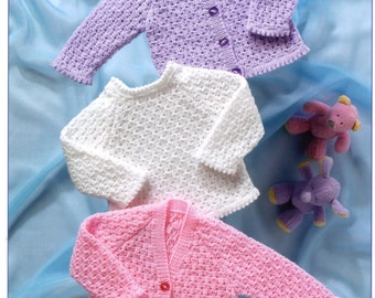 2f359fef3585 knit baby round neck sweater and diaper cover pram set vintage