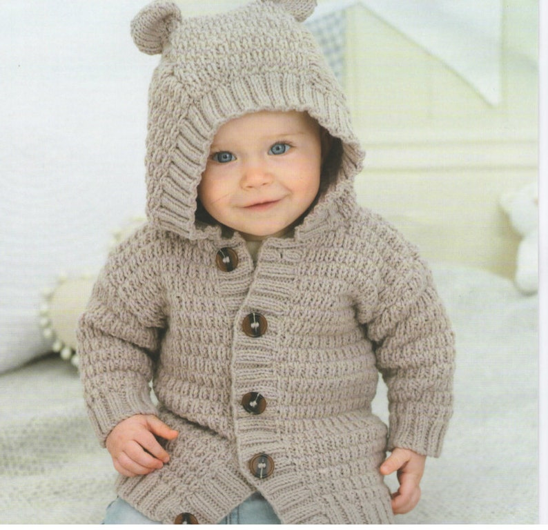 f493e2ab5c2f Vintage Pattern Baby sweater Instant Download cardigan