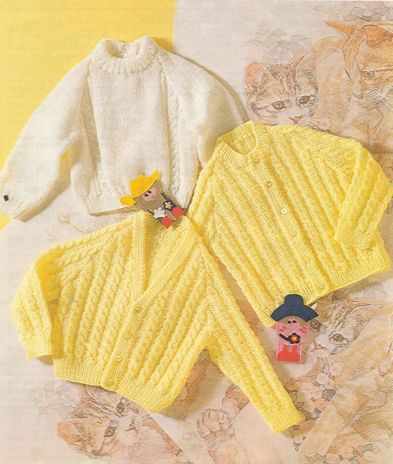 0405069ce749 Knit Baby V neck and Round neck and Pullover Sweaters Vintage