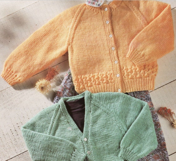 6c561b7b590c Knit Baby Cardigan Sweaters V-Neck and Round Neck