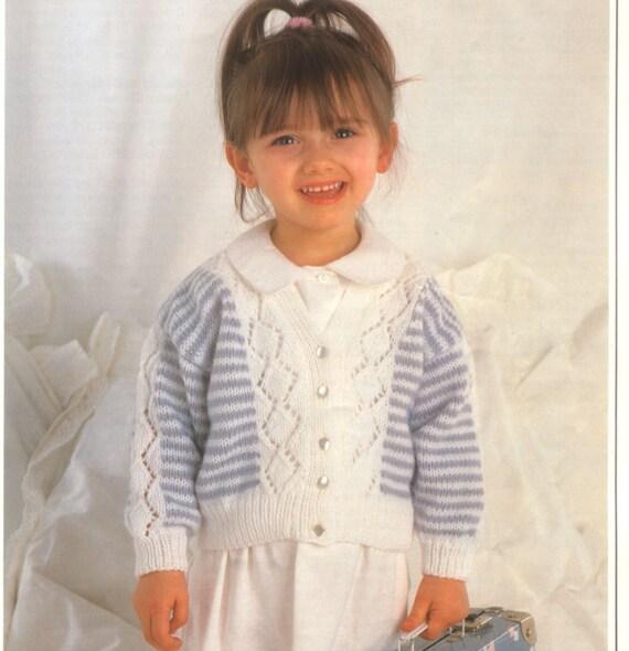 Knit Baby Toddler Cardigan Sweater Vintage Pattern knitting | Etsy