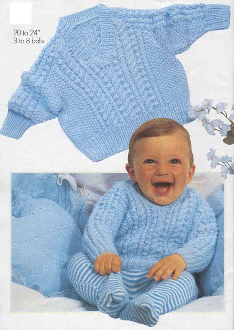 9d482e5649a9 Knit V-Neck Baby Sweater Vintage Pattern toddler knitting