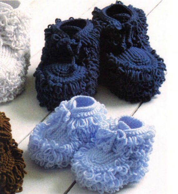 Vintage Crochet Pattern Mukluk Booties For Baby And Children Etsy