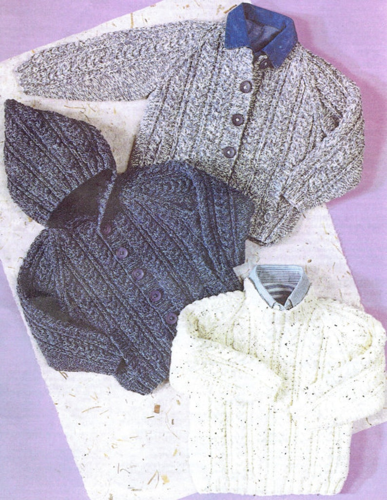 6fd20960d0e0 Knit Baby Jacket Sweater and Hat Vintage Pattern Cardigan