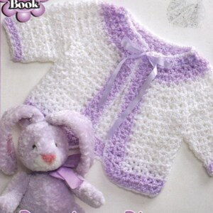 Crochet Baby A Line Jumper and Hat Click on Picture OhhhBabyBaby vintage pattern instant download pdf