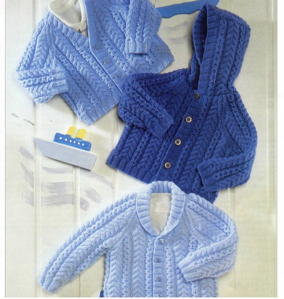 stricken Baby Jacke Pullover-Kapuzen v-neck-Schalkragen | Etsy