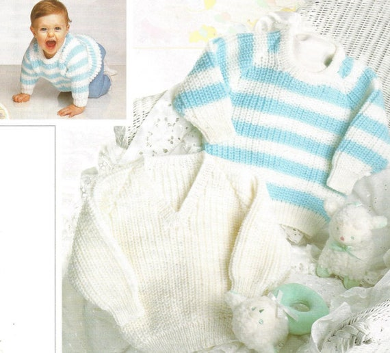 b64182466e90 Babys Knit Sweaters Pdf.  OhhhBabyBaby Round Neck and V Neck