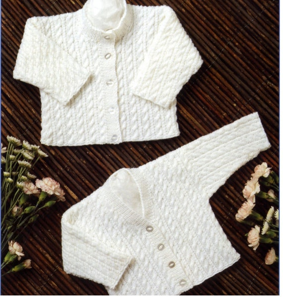 78538dd8b7af knit baby cable knit v-neck cardigan and round neck cardigan