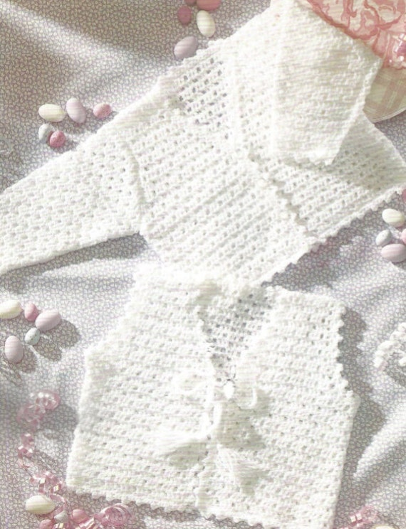 Crochet Baby Jacket and Vest Pdf/OhhhBabyBaby/ Angel Sweater | Etsy