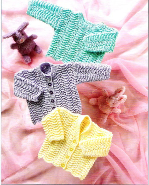 a18f2d12a54b Knit Baby Sweaters Round Neck Cardigan V-Neck cardigan