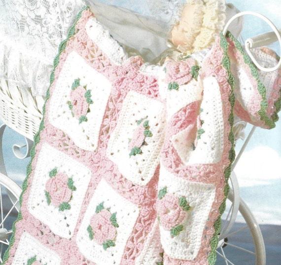 Häkeln Baby Schlitten oder Kinderbett Decke Vintage Muster | Etsy