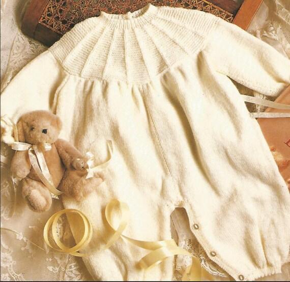 Stricken Baby Overall runden Langarm Hals Windel Abdeckung | Etsy
